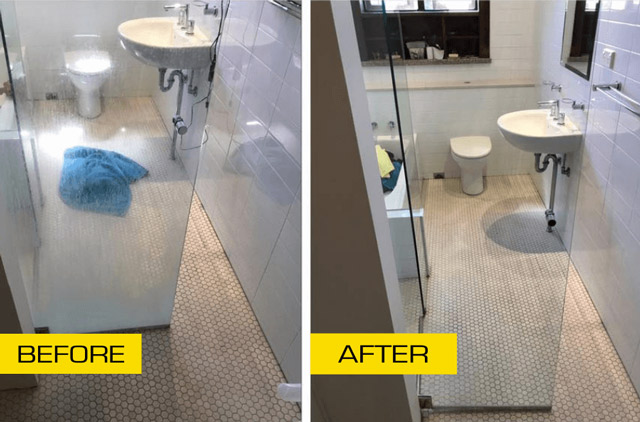 clean shower tiles and grout